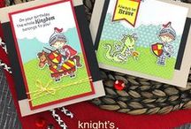 Knight's Quest - Stamp Set / Hear Ye! Hear Ye! Our little hero is here to save the day! This adorable stamp set features a knight dressed in armor and ready to help you send birthday wishes and more!