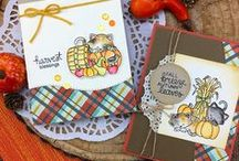 Autumn Newton - Fall Cat Stamp Set / Newton is having tons of Autumn fun participating in fun Fall activities like heading to the pumpkin patch and playing in a leaf pile! Complete with lovely Fall sentiments, this adorable set will make great cards for any fall occasion!
