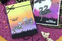 Spooky Skeletons - Halloween Animal Stamp Set / This spooky stamp set is filled with fun animal skeletons that have just the right mixture of scary and cute for all your Halloween creations!