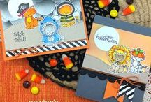 Newton's Costume Party - Halloween Cat Stamp Set / Newton is ready to get dressed up in this stamp set! Choose from a variety of fun costumes and hats to dress the kitty for Halloween greetings and more.