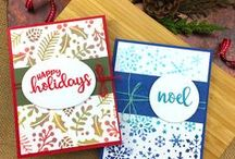 Sentiments of the Season - Christmas Sayings Stamp Set / This set includes beautiful Holiday words and sentiments in various sizes and styles so you will find the perfect greeting to add to any card!