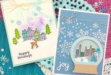 Snow Globe Scenes Stamp Set / Create your own winter scenes with this stamp set! Use this set on it's own or with the Snow Globe Shaker Die Set (sold separately) to create shaker cards!