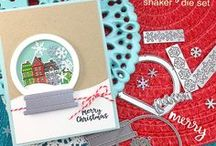 Snow Globe Shaker Die Set / Create gorgeous snow globe cards with this die set. This set includes a die cut for the acetate and for the frame to make shaped shaker cards easily. Cut out snowflakes to put inside the shaker too.