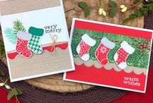 Stylish Stockings - Christmas Stamp Set / The cute patterned stockings in this stamp set are so fun to stamp! The bold style of this set makes it easy to create cute and quick Holiday cards!