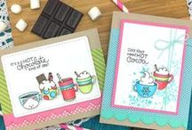 Cup of Cocoa - Hot Chocolate Stamp Set / Some days call for Hot Chocolate and that's what this set is all about! These adorable little mugs will be so fun to color and use to send warm wishes to all the chocolate lovers in your life!