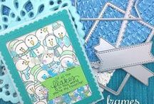 Frames & Flags Die Set / This set of dies includes some essential basic shapes that are perfect for cardmaking!