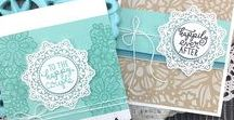 Wedding Frills - Lace Style Stamp Set / Celebrate the happy couple with this elegant stamp set inspired by lacy wedding gowns and décor.