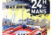 Retro Motor Racing Posters / A collection of our vintage racing prints. All available ready framed.