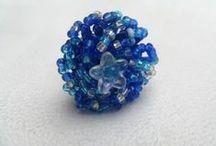 Line et les perles : les bagues / Quelques bagues en perles de rocaille. 100% fait main avec amour. http://www.line-perles.fr
