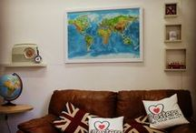 Cork Map Pin Boards / pin your journeys, holidays or family & friend locations with our exclusive cork map pin boards
