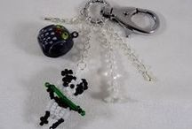 Line et les perles : les bijoux de sac