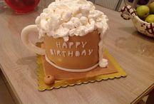 Beer mug cake step by step