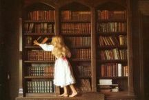 In the Library / Lost between pages, and between shelves... Libraries are the home of books, and books are the home of worlds.