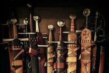 """In the Armory / Weaponry inspiration for my stories -- """"Everyone needs a good sword."""""""