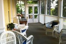 Our B&B: On The Porch / Our glorious wrap-around porch is completely screened in--no bugs!