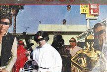 Star Wars Vintage Vinyl Classic Album Covers / Classic album covers with a Star Wars twist