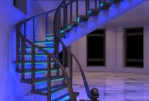 LED illuminated stairs design