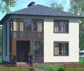 Одноэтажный четырёхкомнатный жилой дом в Белгороде / Проект четырёхкомнатного жилого дома
