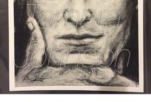 Tamara Johnson Artist / Rock and Roll in Charcoal