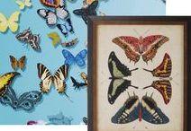 Butterflies - An Elle Decor 2017 Trend / Butterflies are one of Elle Decor's trends for 2017.  http://www.elledecor.com/design-decorate/trends/news/g3429/interior-design-trends-2017/?slide=2