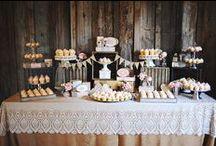 . dessert tables.