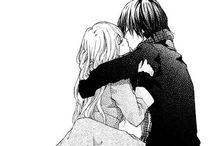 Anime Art B&W Couple / Anime Black+White Art Couple