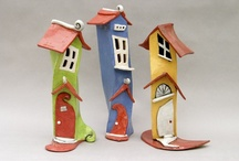 Clay - houses made of