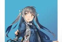 Gray Haired Anime / Kinda like black twins...