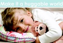 Make It A Huggable World / Plush is always a great way to promote. Make it a huggable world with plush.