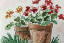 Ida's akvareller / Egne værker