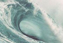 OCEAN MYSTIC / ocean, sea, waves, blue, white, water, transparent, serenity, sereen, beach, deep, light blue, dark blue, mystic, texture, pattern, nature, strong, element, fierce