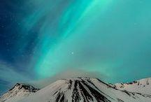 SKY SCALA / Sky skys earth universe colors aurora borealis clouds moon sun day night eclipse pastel rainbow thunder lights milky way