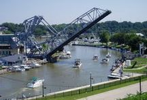 Bridges / My cover is the Ashtabula River lift-bridge / by Jeff's Pins