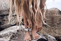 No Shoes Required / Sand between your toes, sun in your eyes and salt in your hair. Who needs shoes to walk a bohemian path through life...