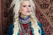 Braided hair shoot ideas / Fashion shoots with hair braids