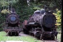 Abandoned Steam Trains in the Northern Maine Woods / Two abandoned locomotives can be found out in the middle of the Northern Maine Woods.  You can access them by hiking in, canoe or snowmobile.
