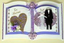 Hochzeitskarten / Bei mir findest du liebevoll gestaltete Glückwunschkarten zur Hochzeit. Gerne personalisiere ich auch die Karten mit Namen und Datum des Brautpaares.