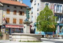La ville de Rosières / La ville de Rosières en Haute-Loire 43, Auvergne - France