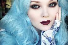 Blue, Purple or Green?! / Cores que mais gosto para cabelo colorido.