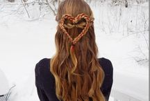 Valentine's Hairstyles /  Valentine's Day hairstyles for women & girls - beautiful heart braids, Updo's & more