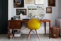 Wohnen - Home Office, Working Space / Ideen für einen Arbeitsplatz zuhause für die Serie Wohnen mit Kindern auf dem Blog