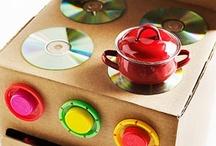 Kinderküche / Küchen für Kinder selbstgemacht. Von Karton bis wasserfest.