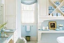 sauna-, pesu- ja pukuhuonetilat / Alakerran sauna-, pesuhuone- ja pukuhuonetilojen sisustusideoita  ja värimaailma vinkkejä.
