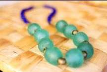 Eco-Friendly and Recycled Glass Beads / For all those beautiful, eco-friendly beads made from crushed recycled glass bottles, recycled plastic, and more :)