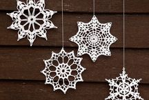 Crochet snowflakes / Inspiration for making my own snowflakes.