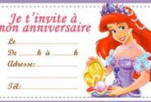 Anniversaire sirène Ariel