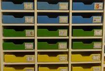 organisation classe: armoires pour ateliers thématiques