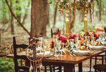 BODAS DE OTOÑO / Las bodas de Otoño son románticas y cálidas. Los colores de la naturaleza, las primeras chaquetas, las luces de las velas...es un entorno mágico para el día de tu boda.