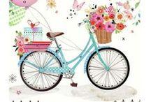 kerékpár / #kerékpár képen, rajzon, festményen...