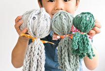 Handarbeit - Finger knitting / for kids, für Anfänger, Kindergarten